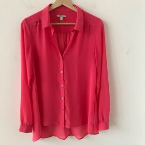 Mexx neon pink sheer blouse